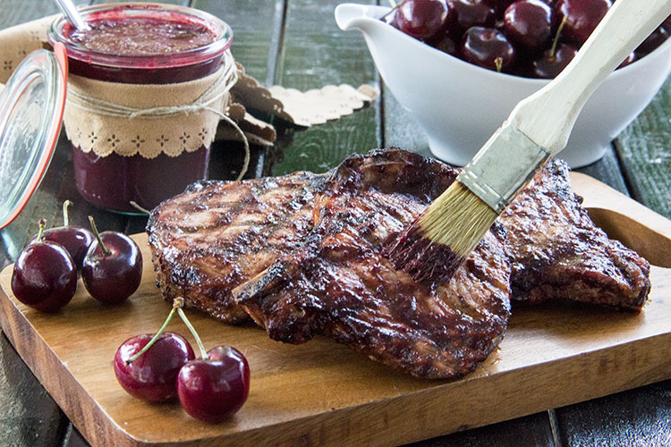 Pork-Chops-with-Cherry-BBQ-Sauce
