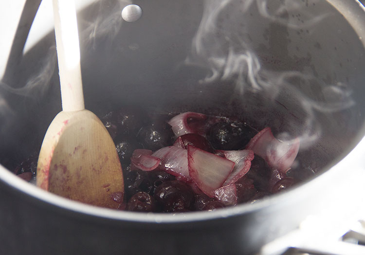 cooking-cherries-and-onions
