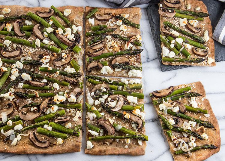 Asparagus-Goat-Cheese-Flatbread