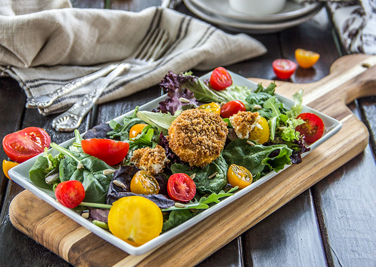 Easy-Warm-Baked-Goat-Cheese-Salad