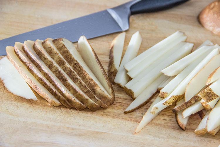 slicing-potato-fries