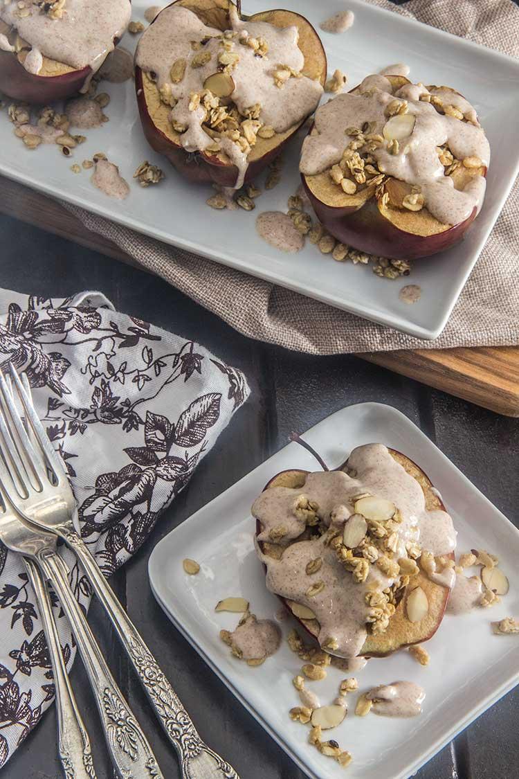 Maple-Vanilla-Baked-Stuffed-Apple-Parfait