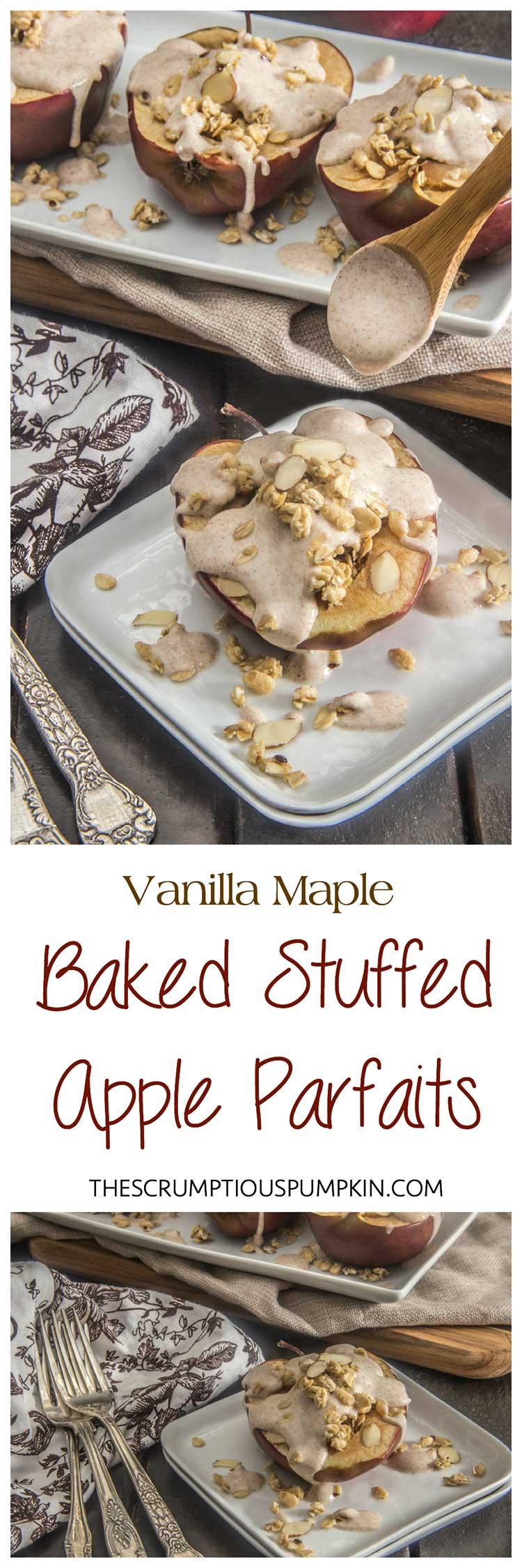 Vanilla-Maple-Stuffed-Baked-Apple-Parfait