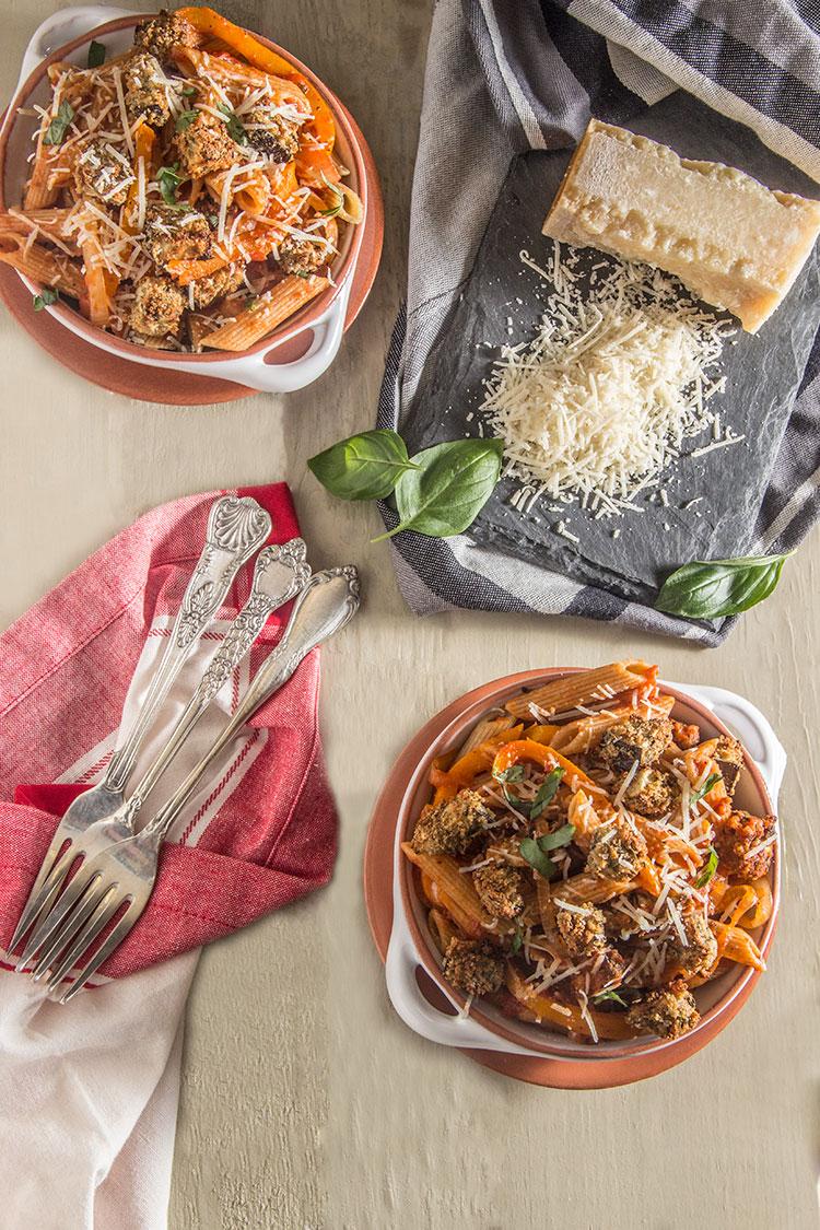 Pasta-Bowls-with-Eggplant-Parmesan-Bites