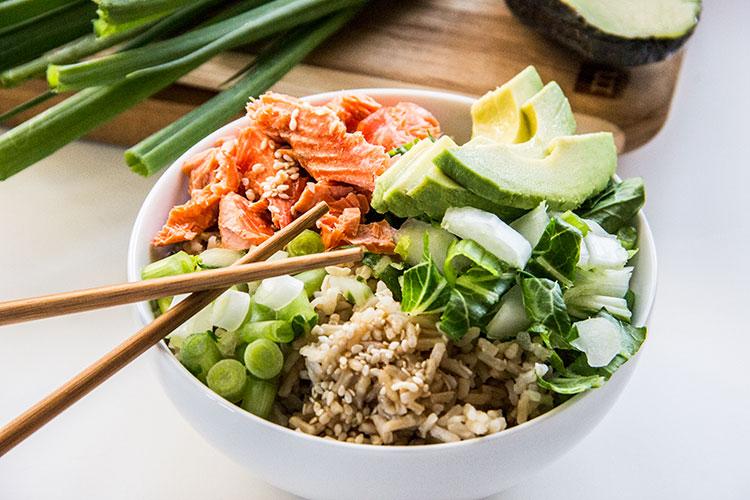 Sesame-Ginger-Salmon-Avocado-Bowls