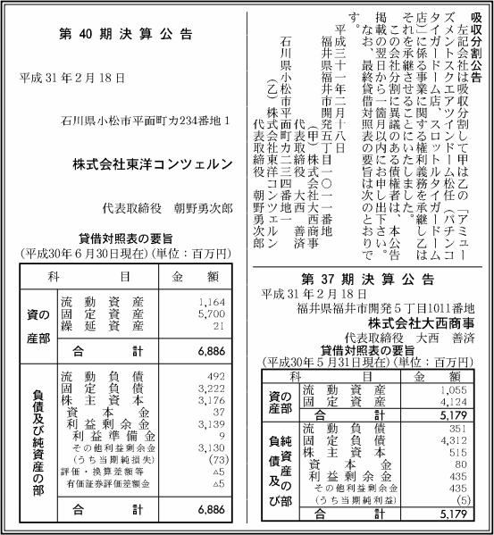 吸収分割公示20190218-2
