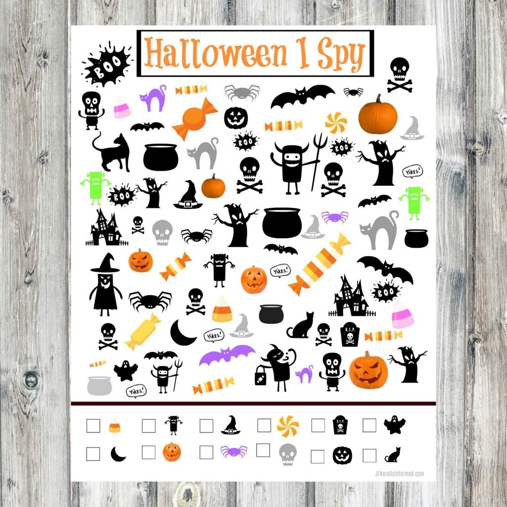 Halloween I Spy Printable