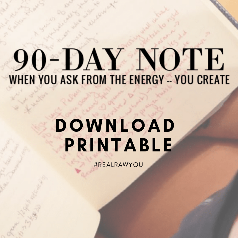 90 day note to yourself