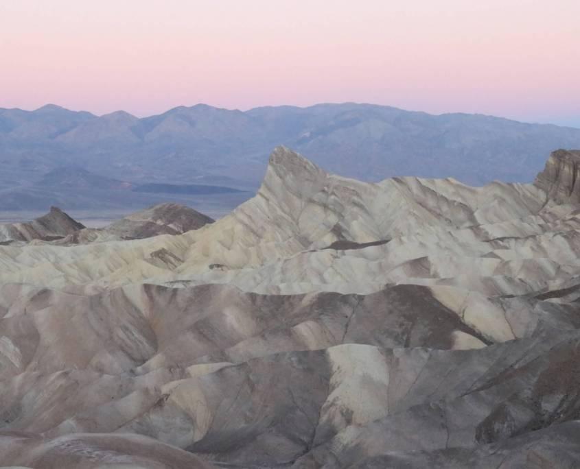 Death Valley National Park, sunrise at Zabriskie Point