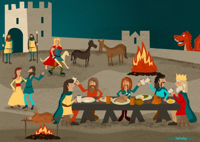 Fionn And Dragon Illustrated By Jennifer Farley