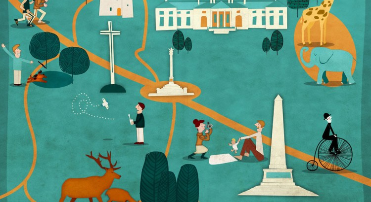 Phoenix Park Map By Jennifer Farley