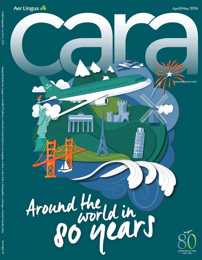 Cara Magazine - Aer Lingus In-Flight Magazine Cover by Jennifer Farley