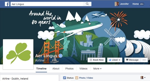 Aer Lingus - Facebook Cover