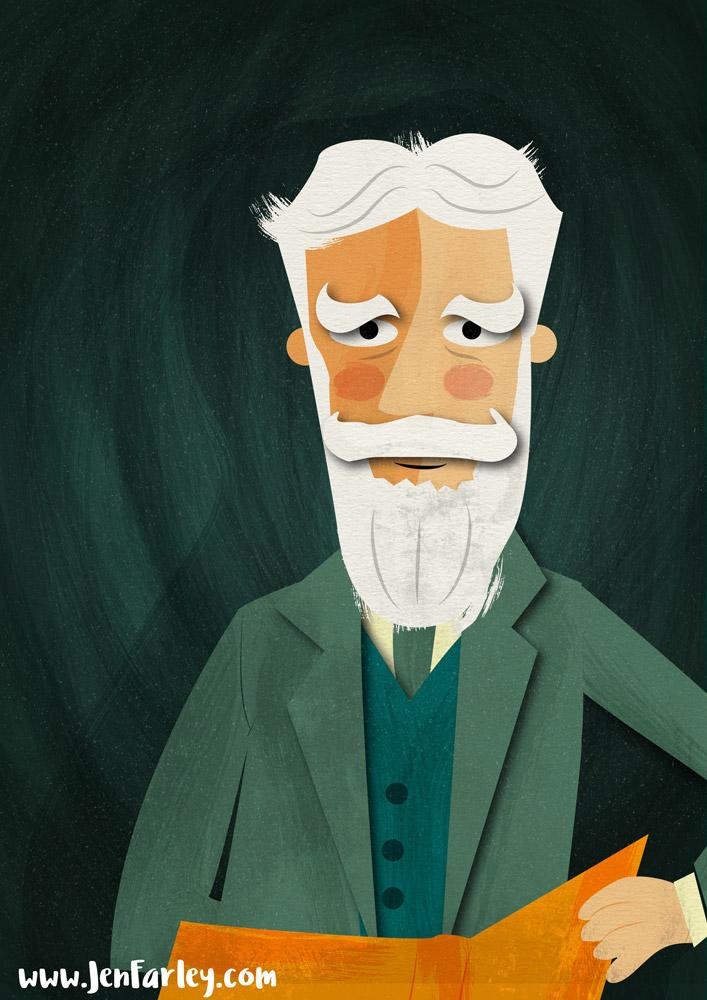 George Bernard Shaw by Jennifer Farley