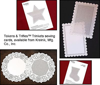 Stitching for Literacy, Tokens & Trifles sewing cards from Kreinik