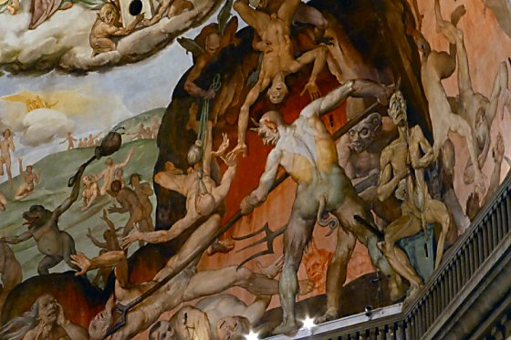 Hell scene from the interior of Il Duomo