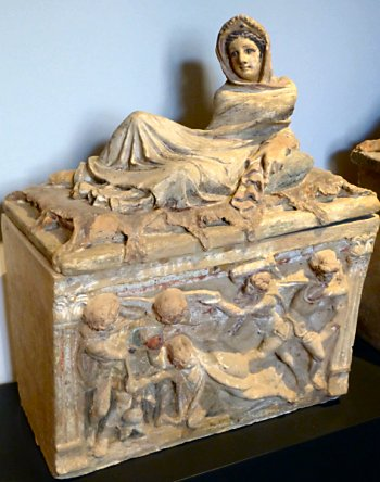 Etruscan Ossuary in Chiusi Museum
