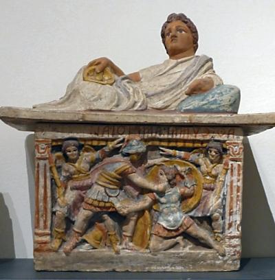 Ossuary in Chiusi Museum
