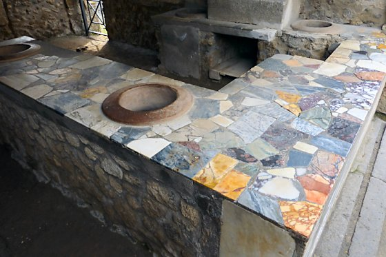 Pompeii Marble Serving Counter