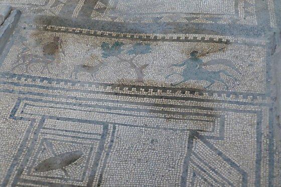 Mosaic tile floor in Pompeii