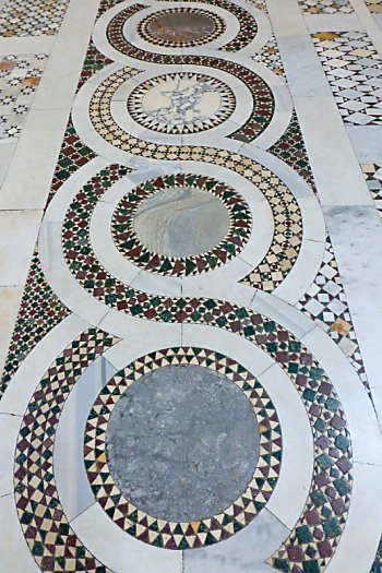 Mosaic floor at San Giovanni in Laterano.