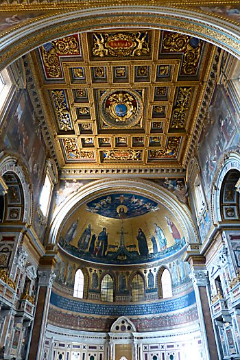 The ceiling at San Giovanni in Laterano
