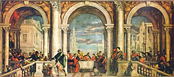 Paolo Veronese's Feast in the House of Levi