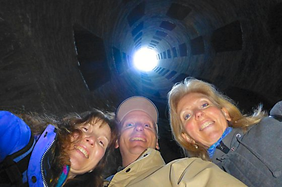 Jen, Mike, and Barb at the bottom of the well.