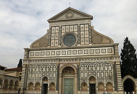 The facade of Santa Maria Novella