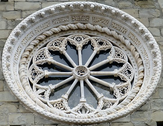 A rose window from a cathedral