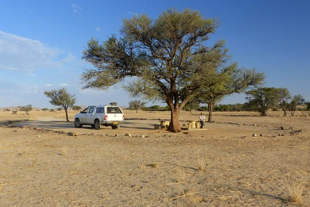 Campsite in Namib-Naukluft National Park