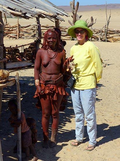 Himba woman and me.