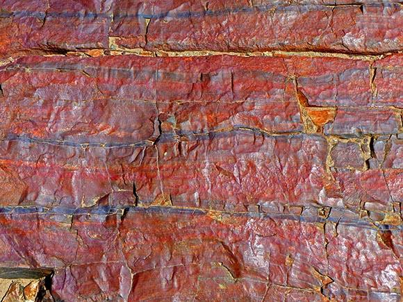 Red rocks at Epupa Falls.