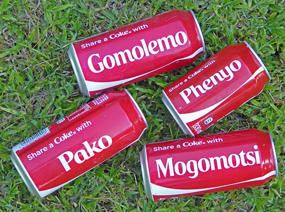 Share-a-Coke campaign in Africa.