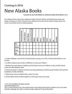 New Alaska Books Logic Puzzle, Jen Funk Weber