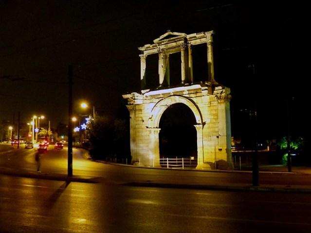 Illuminated Hadrian's Arch - Jen Funk Weber