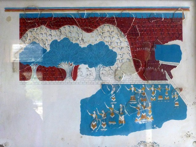 Ladies Under Trees Fresco, Knossos, Crete, Greece - Jen Funk Weber