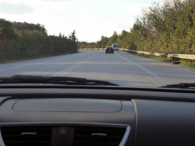 Lines are merely suggestions 1, driving on Crete - Jen Funk Weber