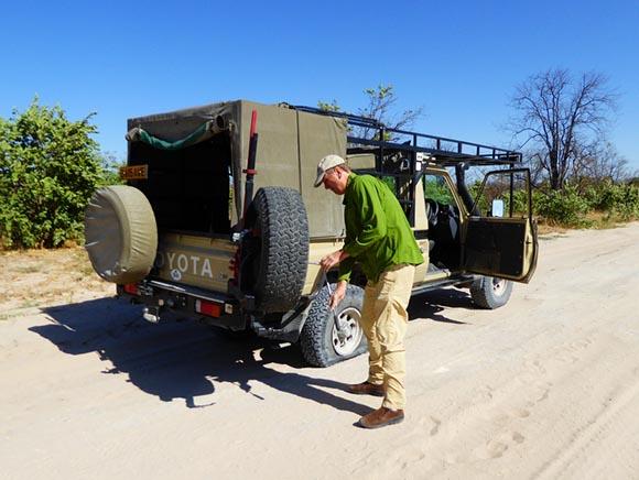Flat tire in Africa