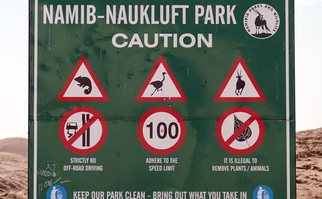 Namib-Naukluft animal signs