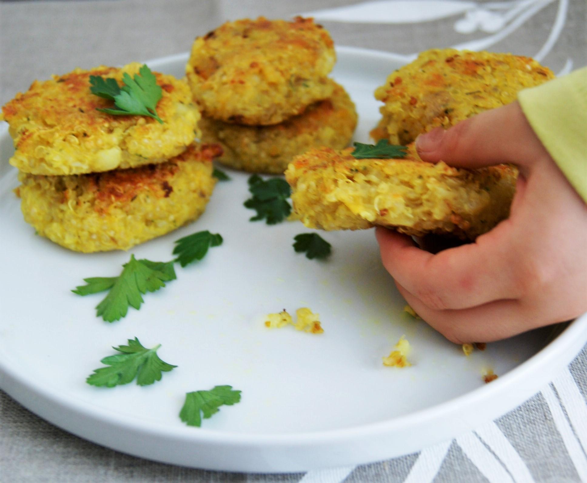 Croquetas de quinoa con coliflor y papa quinoa croquettes for Cocinar 1 taza de quinoa