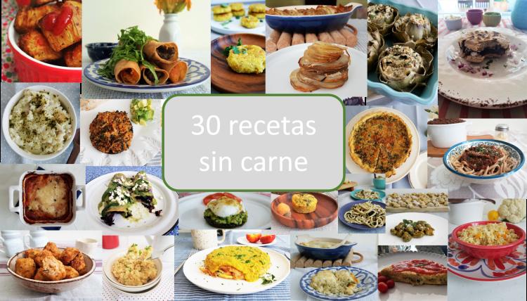 30 recetas sin verdura