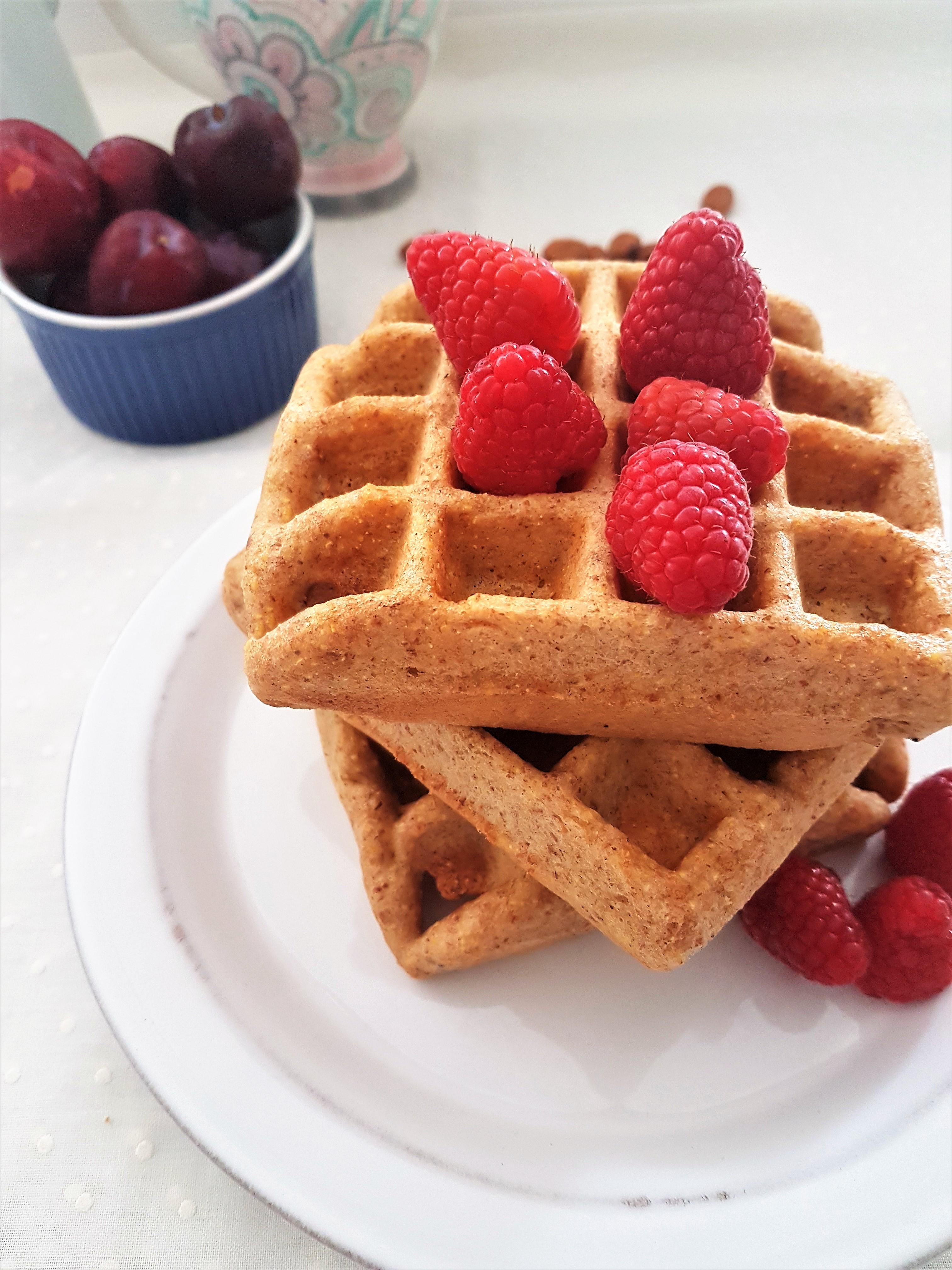 Waffles de almendra, maíz y limón (8)