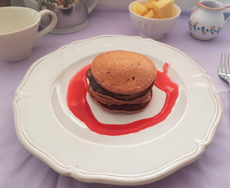 Hotcakes de frambuesa y avena
