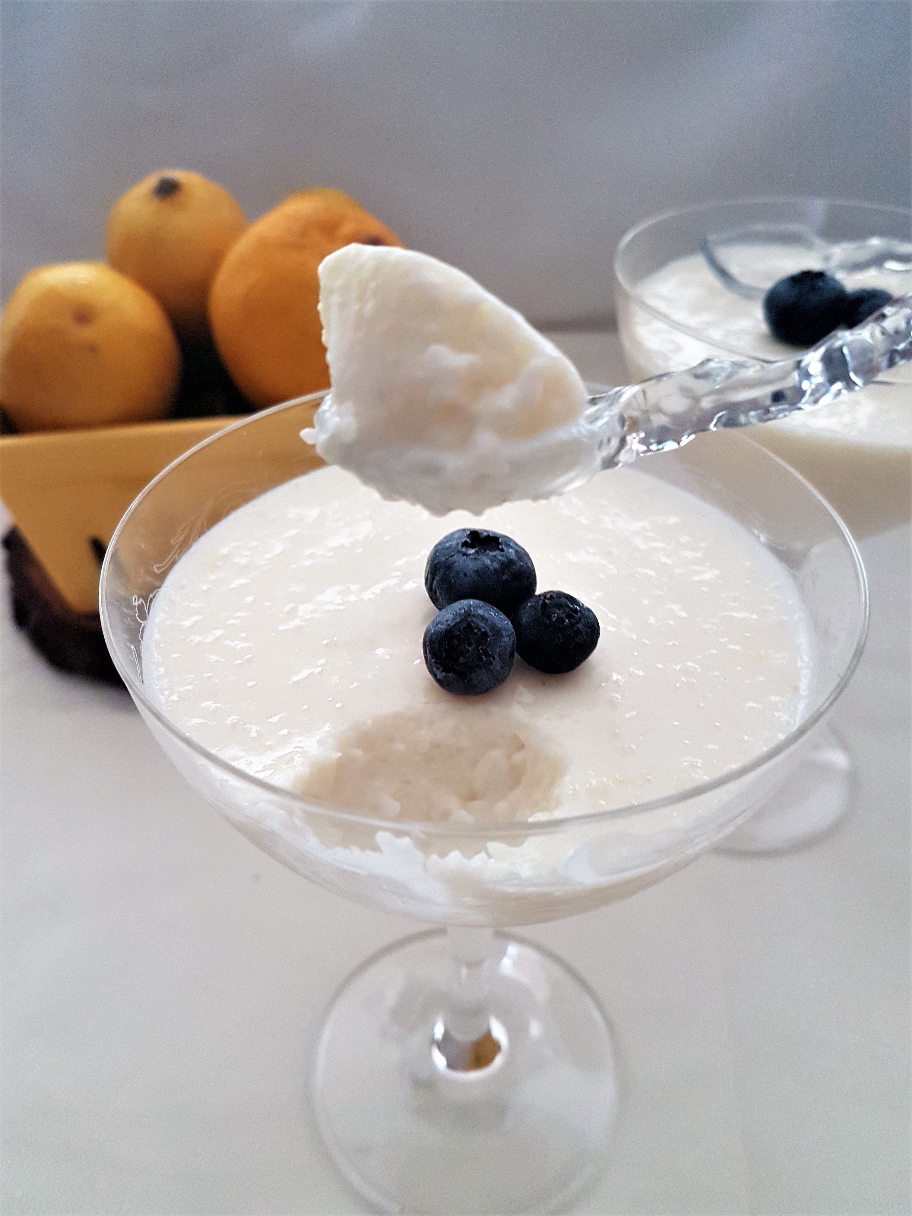 Mousse de yogurt y limón