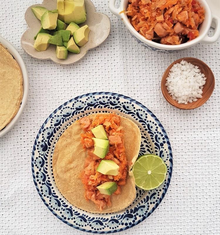 Tacos de marlín ahumado
