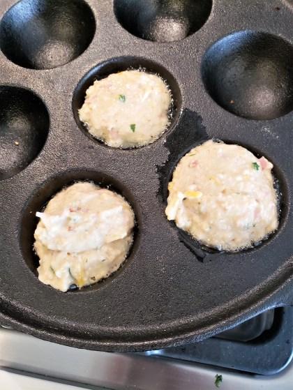 Bolitas de hotcake con jamón y queso (11)
