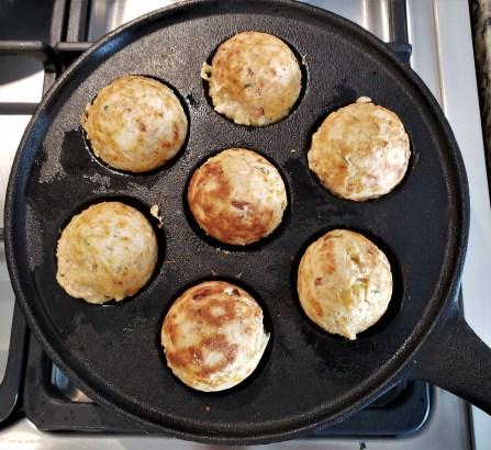Bolitas de hotcake con jamón y queso (9)