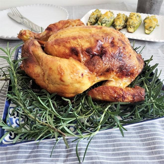 Pollo rostizado en buttermilk