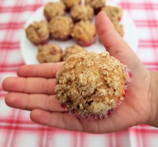 Mini muffins de fresa